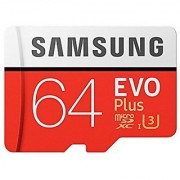 Samsung EVO Plus Grade 3 Class 10 64GB MicroSDXC 100 MB/S Memory Card with SD Adapter (MB-MC64GA/IN)