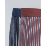 Selected Homme 2 Pack Trunk In Stripe - Multi