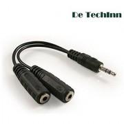 De TechInn Audio Aux Y Splitter Adapter Cable 3.5mm Jack 1 Male to 2 Female Plug