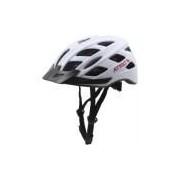 Capacete de Bike Atrio BI104 com LED Integrado - Adulto - BRANCO/PRETO Atrio