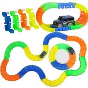 Zyka High Quality Magic Race Tracks - Bend Flex Glow Tracks (Pack of 1 set) 165 pieces