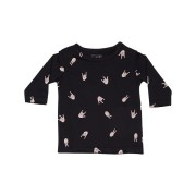 Munster Kids Baby Boys Thumbs Up Ls Tee Soft Black