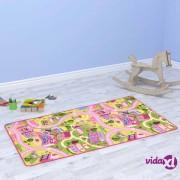 vidaXL Tepih za igranje 133 x 190 cm uzorak lijepog gradića