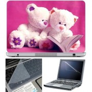 Finearts Laptop Skin Reading Teddy With Screen Guard And Key Protector - Size 15.6 Inch