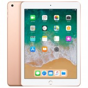 """Apple iPad 9.7"""" (2018) 128GB Wifi with Rounded Edges Tempered Glass Screen Protector - Gold (with 1 year official Apple Warranty)"""