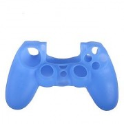 Microware Silicone Protective Skin Case Cover for Sony PlayStation 4 PS4 Controller - Light Blue