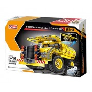Bo Toys Building Bricks STEM Toy, 361 Pcs Dump Truck and Airplane Construction Blocks, Build It Yourself Toys