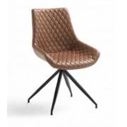 items-france PHOENIX - Lot de 2 chaises pivotantes similicuir 51x56,5x90cm
