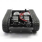 Littleice Smart Robot Tank Car Chassis Kit Rubber Track Crawler with Arduino 130 Motor Tracked Vehicle Chassis