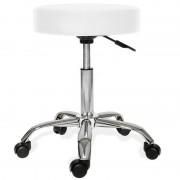 Scaun cu rotile cu înălțimea reglabilă, Alb-, coafură, machiaj pentru casă sau birou? Da!