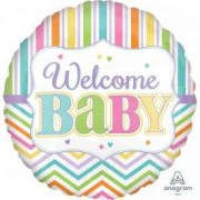 Balon folie 45cm Welcome Baby colors