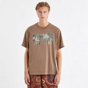 Billionaire overdye digi camo t-shirt Brown