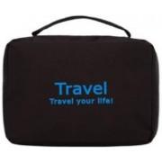 Favria Toiletry Bag Travel Organizer Cosmetic Bags Makeup Bag Toiletry Kit Travel Bag Travel Toiletry Bag Unisex Black Travel Toiletry Kit Travel Toiletry Kit(Black)