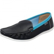 Fausto MenS Black Casual Loafers (FST 1003 BLACK)