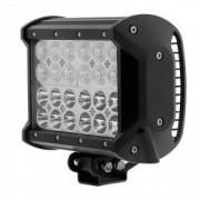 Proiector LED cu doua faze faza scurta/faza lunga 72W/12V-24V 6120 Lumeni Lungime 16 7 cm Leduri CREE