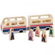 Дървено влакче с пътници - 19393 - Melissa and Doug, 000772193931