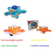 New Pinch Amazing BUMP GO 3D Colorful Lights musical Starfish shape Toy For Kids (color may vary )