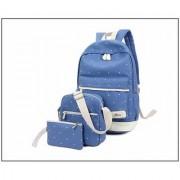 Aeoss Women School Bag College Wind Women's Backpack Canvas Fashion Bag Set of 3 Bag