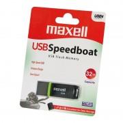USB памет MAXELL Speedboat, USB 2.0, 32GB, Черен ML-USB-E300-32GB