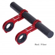 DEEMOUNT Bicycle Handlebar Extended Bracket Headlight Mount Bar Holder Support Extender - Red