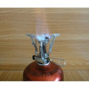 Cabeza Estufa Foldable Gas Burner Integrated Stove Head With Switch De Color Blanco Plateado.
