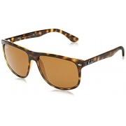 Ray-Ban RB4147 Boyfriend anteojos de sol cuadradas, color café claro y polarizado, 60 mm