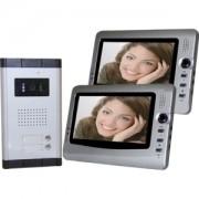 """Videocitofono a colori con doppio monitor LCD da 7"""" - Mod. Silver"""