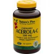 Natures Plus Acerola-C 500 mg Vitamin C, 90 Lutschtabletten