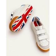Mini Weiß Niedrige Sneaker aus Leder Jungen Boden, 35, White