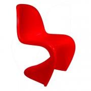 Verner Panton eetkamerstoel Panton stoel rood