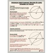 Triunghi dreptunghic inscris in cerc - Teorema lui Thales - fara sipci
