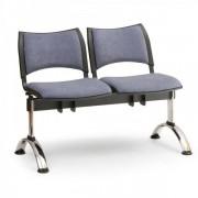 Kovo Praktik RAUMAN Čalouněné lavice SMART, 2-sedák, chromované nohy šedá
