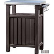 Curver UNITY Asztal grillezéshez 93 literes tárolószekrénnyel barna színben CRV-230410