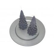 Kerstboom Kaars Antraciet 200x100 mm