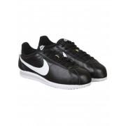 Nike Classic Cortez PRM Leather Shoes - Black/White Size: UK 9, Colour