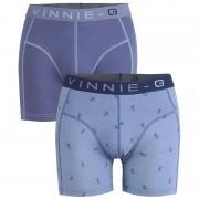 Vinnie-G boxershorts Ski Blue - Print 2-pack -XL