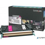 5220MS Lézertoner Optra C522, 524 nyomtatókhoz, LEXMARK, magenta, 3k (return)