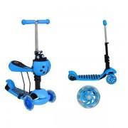Gyerek roller 3 az 1-be katicabogár, LED kerekekkel