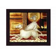 """Lite Source LP-1508 pintura de los perros""""Twin Dogs"""
