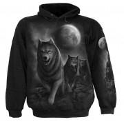 sweat-shirt avec capuche pour hommes - Wolf Pack Wrap - SPIRAL - D029M451