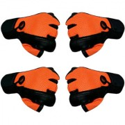 CP Bigbasket (Pack of 2)Gym Gloves with Wrist Support for Men Best in Fitness Exercise (Leather Orange Free Size)