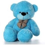 stuffed toy 3 Feet Cute Blue Fur Teddy Bear