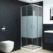 vidaXL zuhanykabin biztonsági üveggel 90x80x180 cm