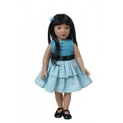 Starpath Asian Girl Doll 18' Vinyl, Included Custom Fairy Tail e-Book Starring You and Your Star Path Doll, Fits American Girl Clothing