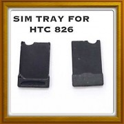 Sim Card Slot Sim Tray Holder Replacement Part for HTC Desire 826 (Black)