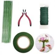 Floral Arrangement Tool Kit Floral Tape Stem Wrap Green Stem Wire Floral Wire For Bouquet Stem Wrap Florist