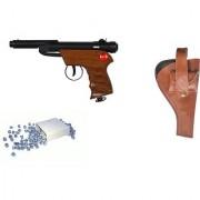 Prijam Air Gun Btw-007 Model With Metal Body For Target Practice Combo Offer 300 Pellets With Cover Air Gun