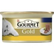 Hrană umedă pentru pisici, Gourmet Gold Mousse cu ficat, 85 g