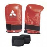 Manusi sac box Anastasia Sport piele naturala culoare rosii marime XL cu bandaje incluse