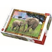 Puzzle Elefanti in savana, 3000 piese